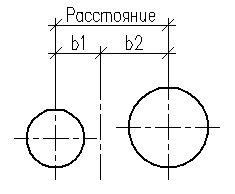 Расстояние между осями смежных трубопроводов
