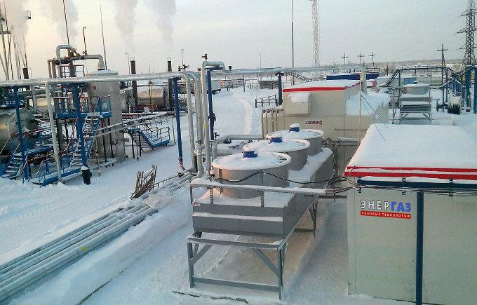 Компактная система подготовки ПНГ (осушитель газа, компрессорная установка, чиллер, узел учета газа)