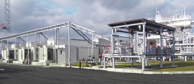 Биттемское месторождение Сургутнефтегаз, компрессорная станция для компримирования низконапорного ПНГ