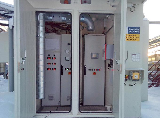 Отсек САУ компрессорной установки на КС Мурьяунского месторождения