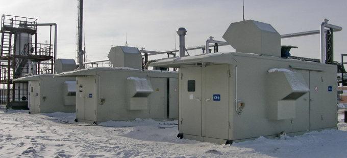 Газодожимное оборудование низкого давления на ДНС-2 НГДУ Комсомольскнефть