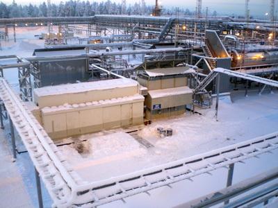 Установка подготовки и компримирования газа ОАО Сургутнефтегаз