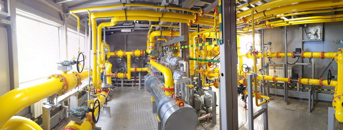 Технологический отсек установки подготовки ПНГ для энергокомплекса Барсуковского месторождения