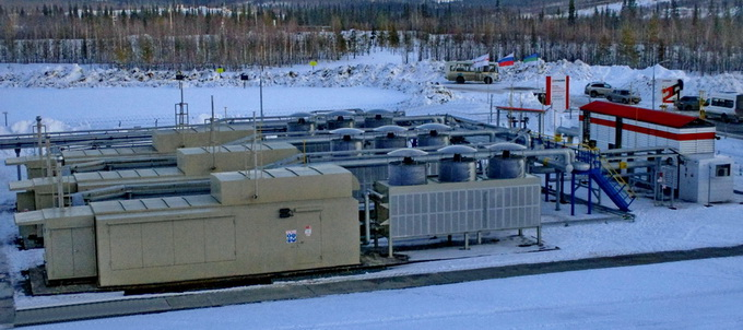 Газокомпрессорная станция и блок подготовки попутного газа для ГТУ-ТЭЦ Усинского месторождения