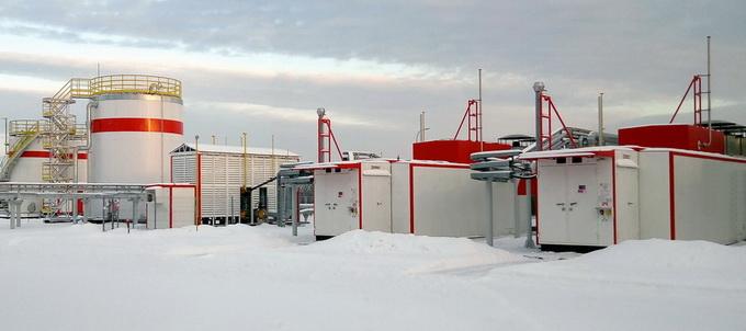 Система газоподготовки и газоснабжения для газотурбинного энергоцентра Ярега